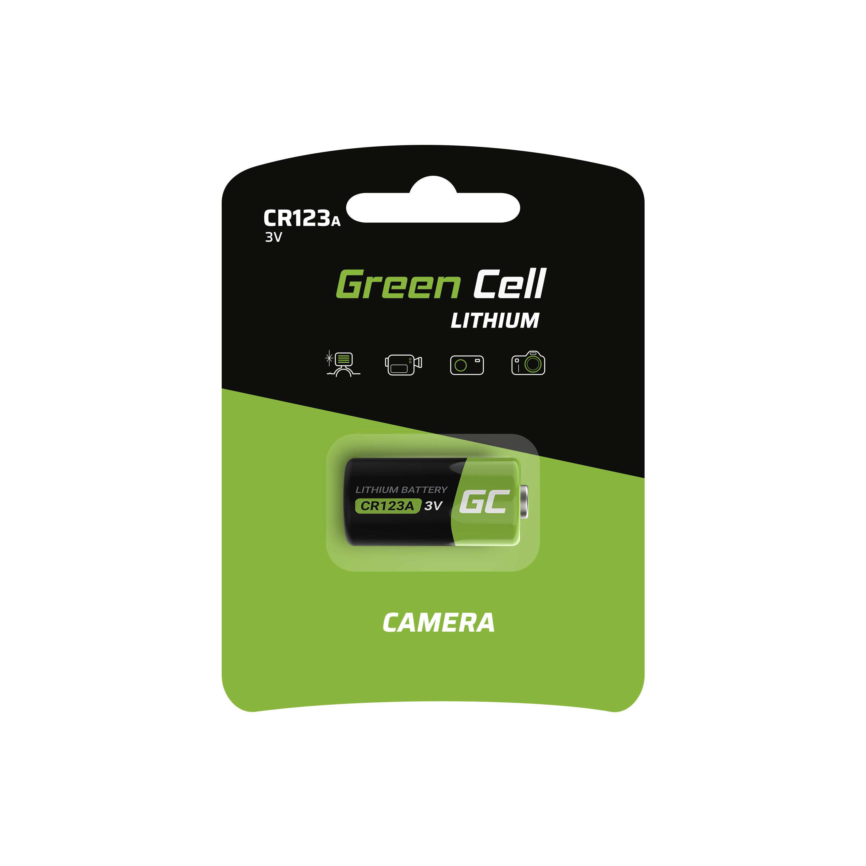 Green Cell XCR02 Baterie CR123A 3V 1400mAh Li