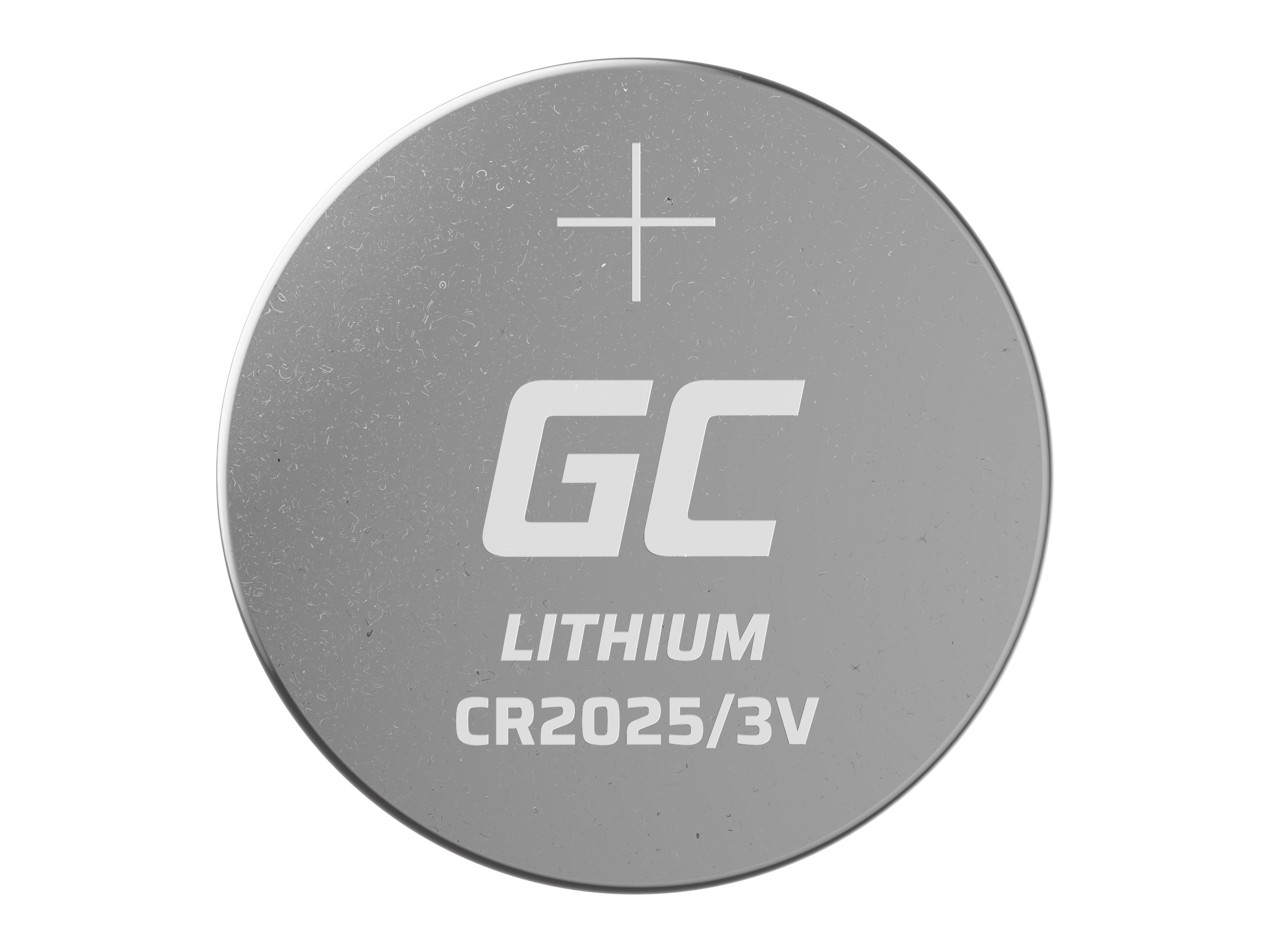 Green Cell XCR04 Baterie CR2025 5ks 3V 160mAh Li