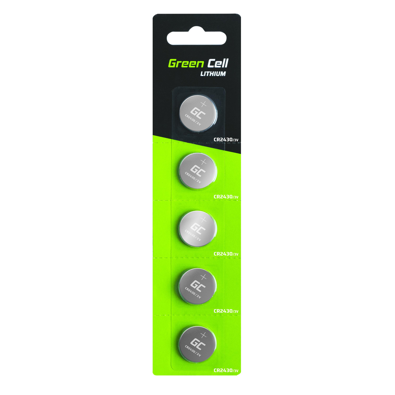 Blister 5x BatteryLitowa Green Cell CR2430 3V 290mAh