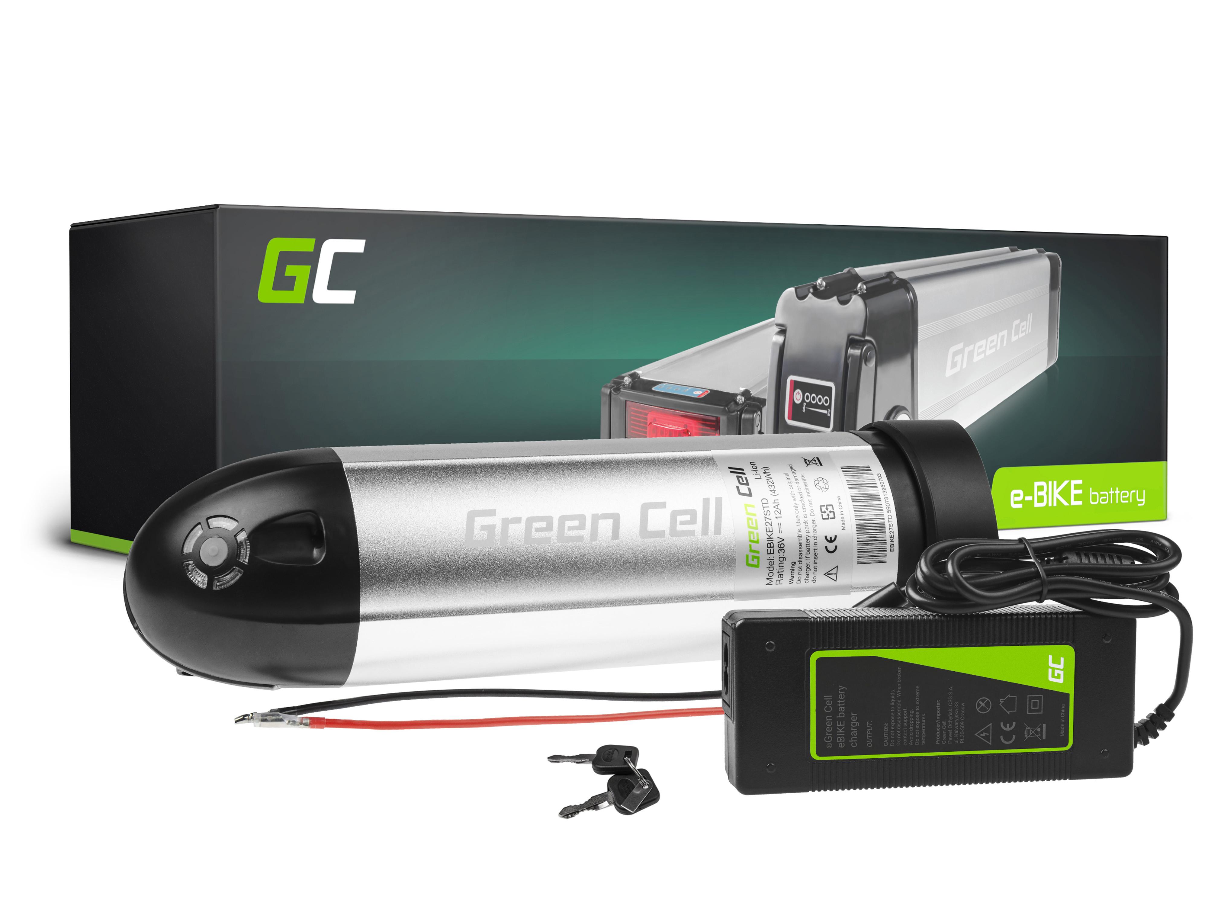 Green Cell Baterie 36V 12Ah 432Wh Bottle pro E-Bike Pedelec