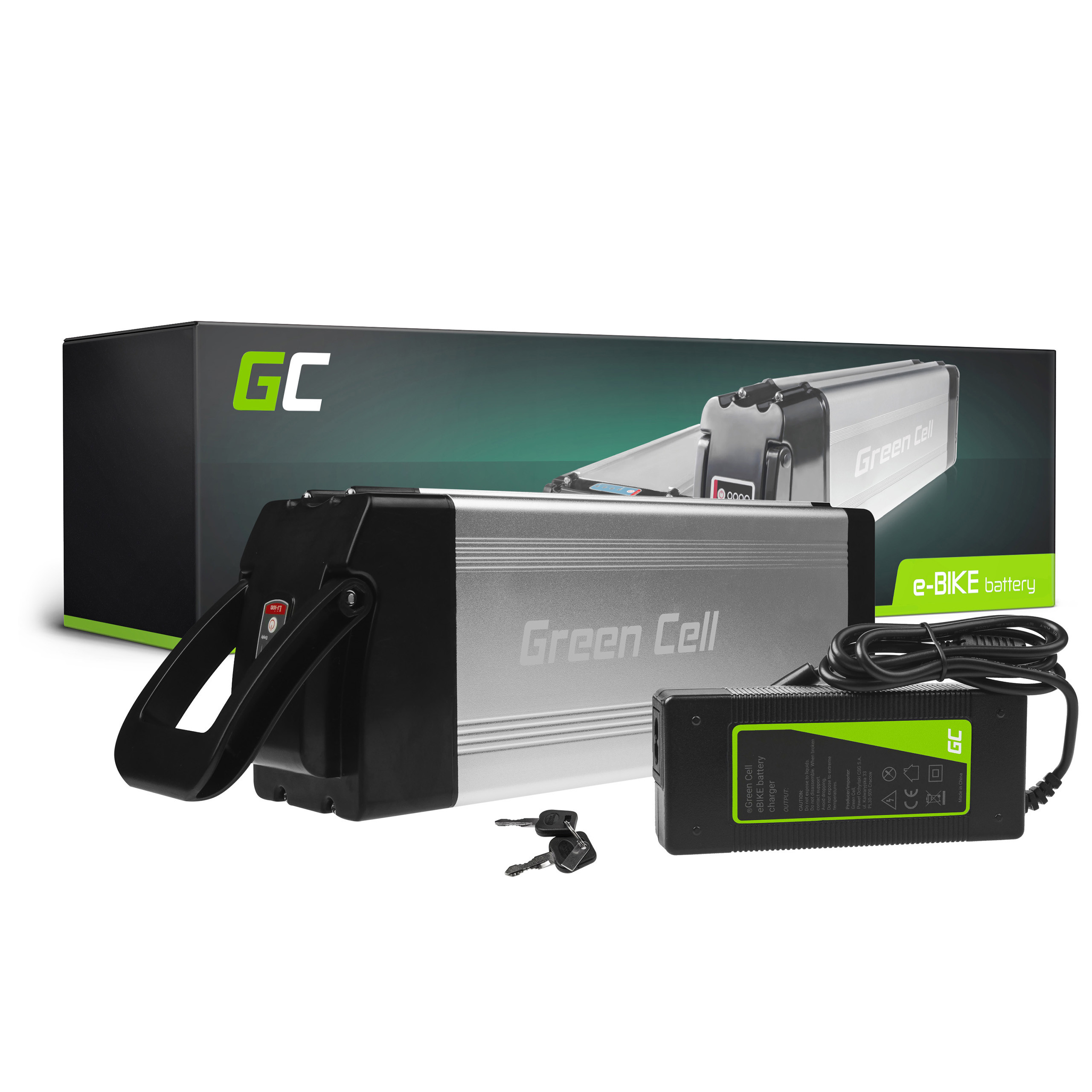 Green Cell E-Bike Baterie 24V 15Ah Silverfish with Charger
