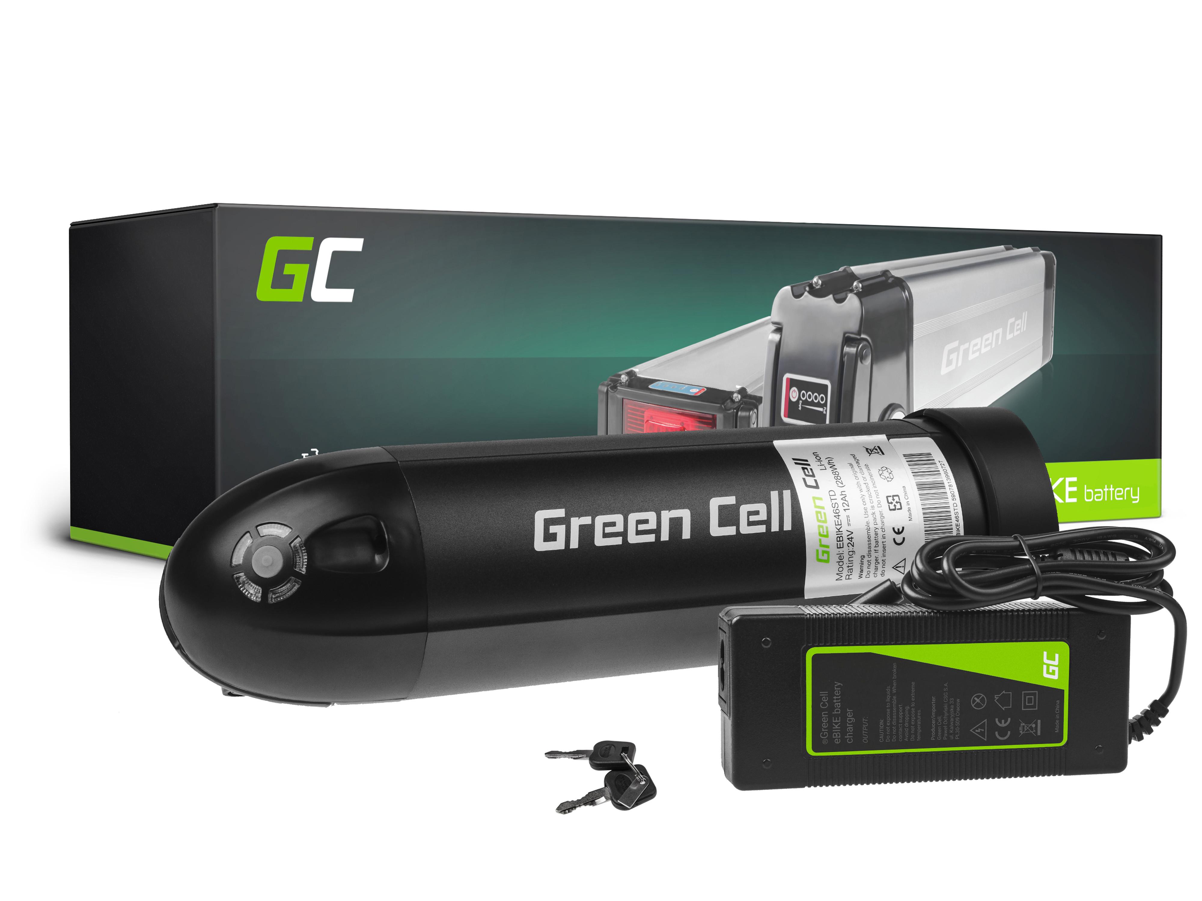 Green Cell Baterie 24V 12Ah 288Wh Bottle pro E-Bike Pedelec