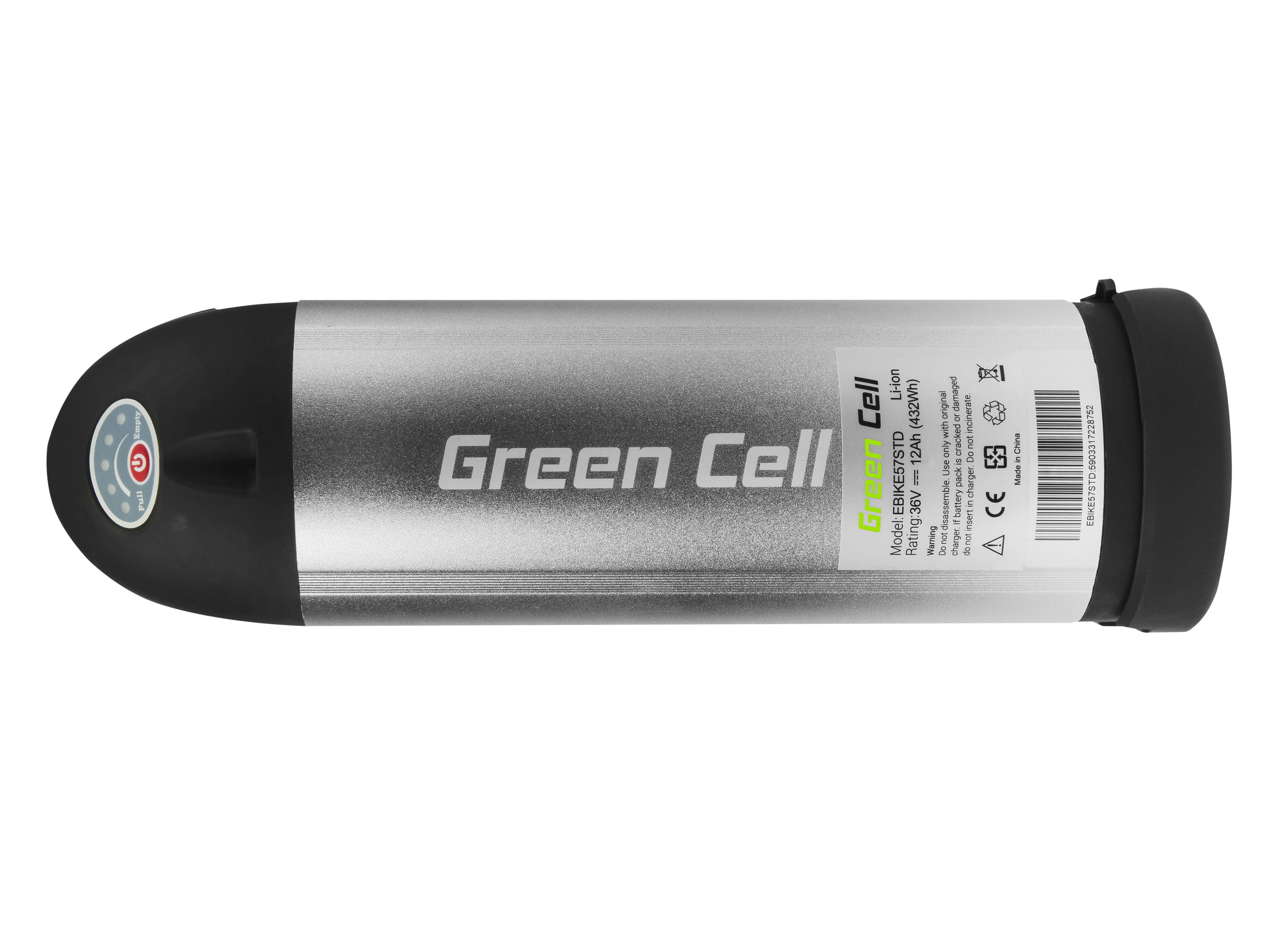 Green Cell Baterie Bottle 36V 11,6Ah 418Wh pro E-Bike Pedelec