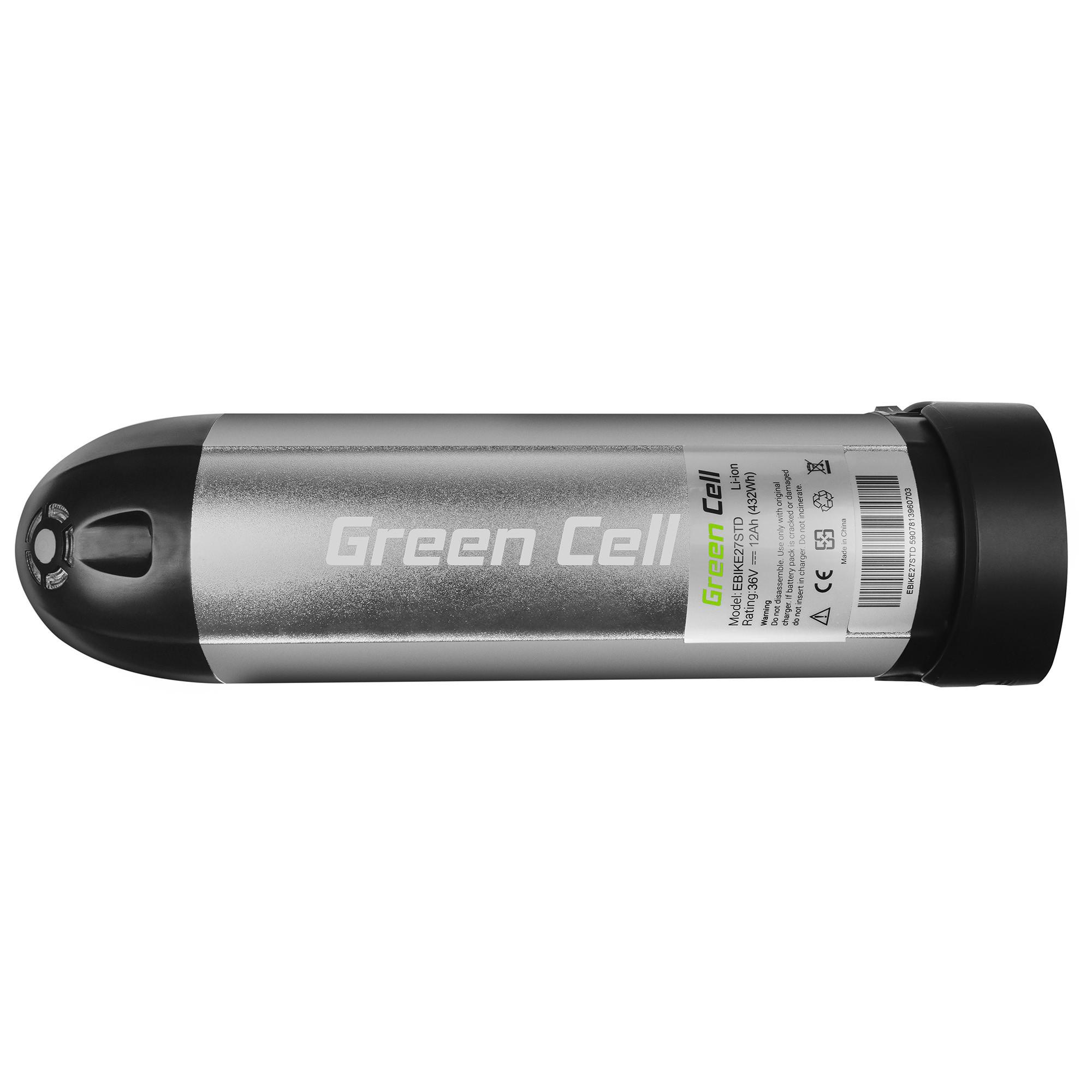 Green Cell E-Bike Baterie 36V 8.8Ah Li-Ion Bottle and NabíječkaElectric Bicycle