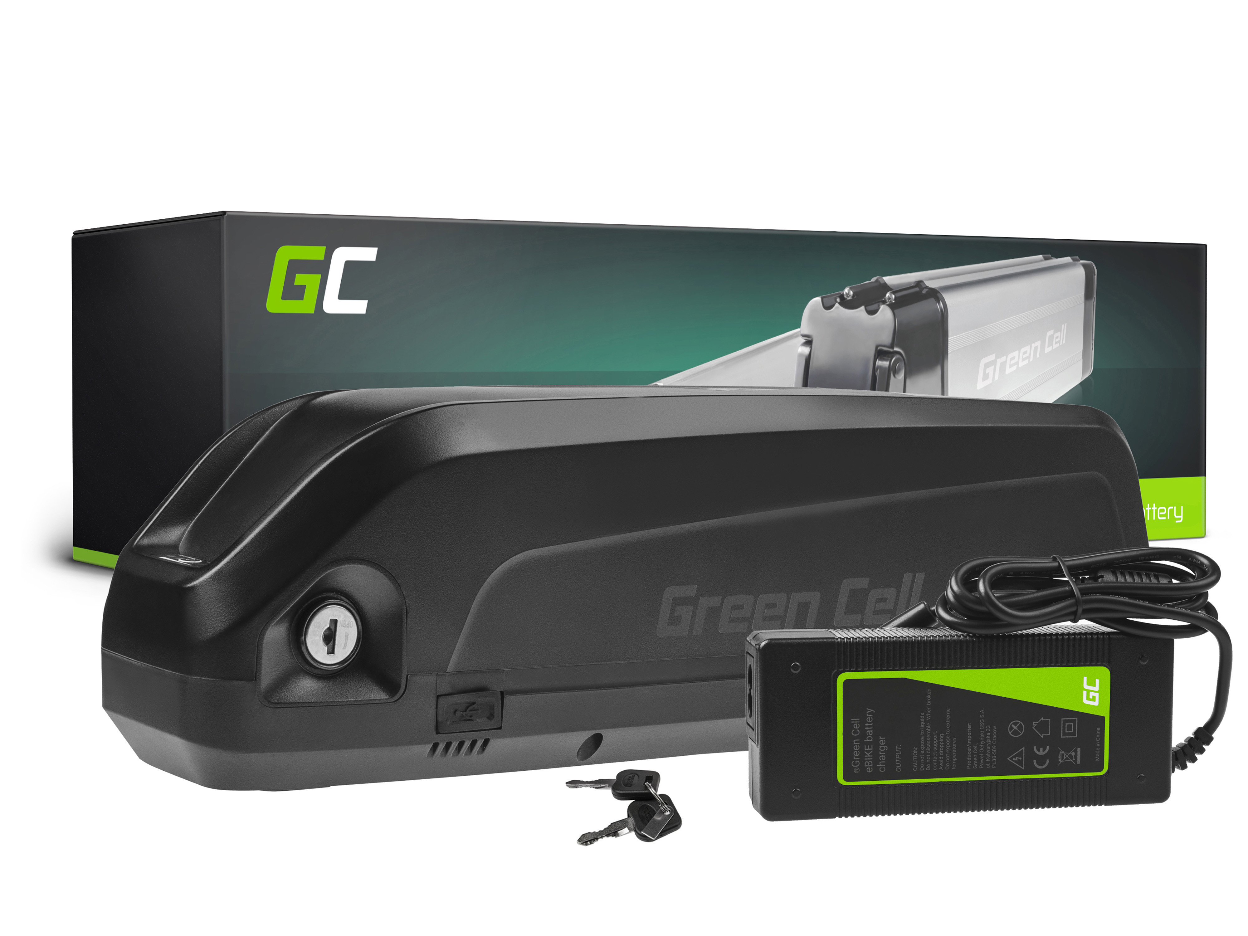 Green Cell E-Bike Baterie 48V 10.4Ah Li-Ion Down Tube with Charger