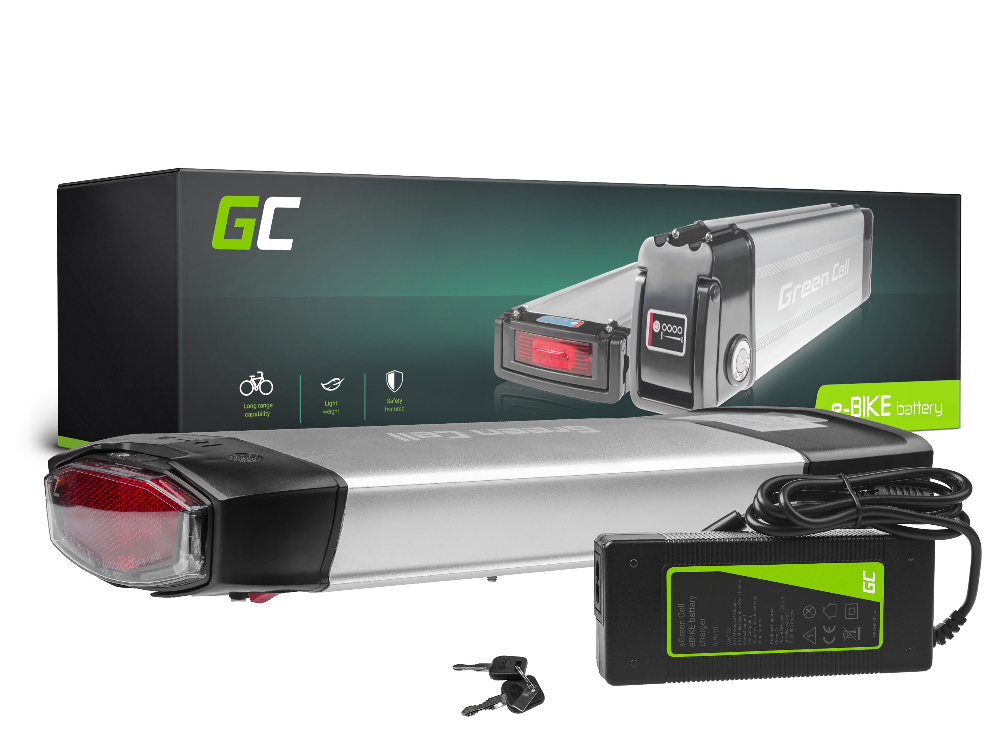 Green Cell E-Bike Baterie 36V 13Ah Li-Ion Rear Rack with Nabíječka