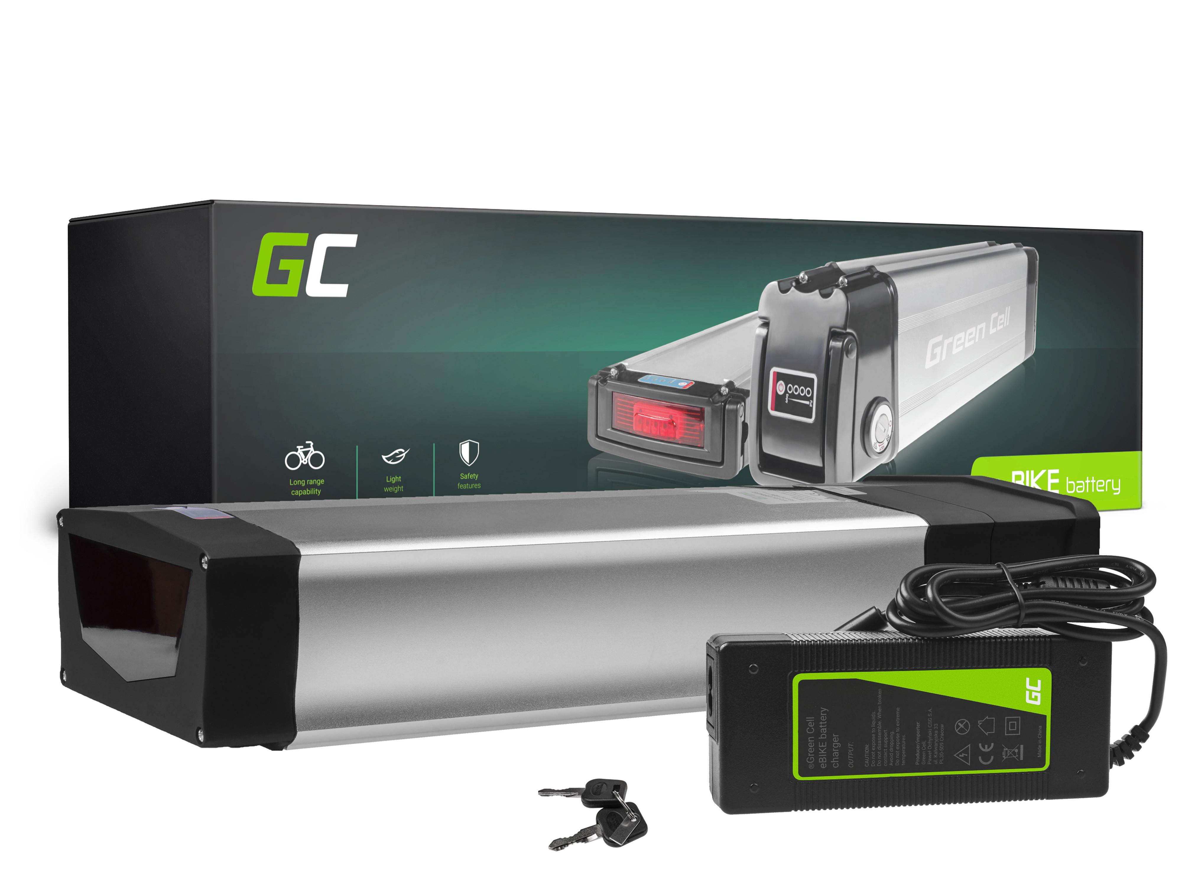 Green Cell E-Bike Baterie 48V 20Ah Li-Ion Rear Rack with Nabíječka