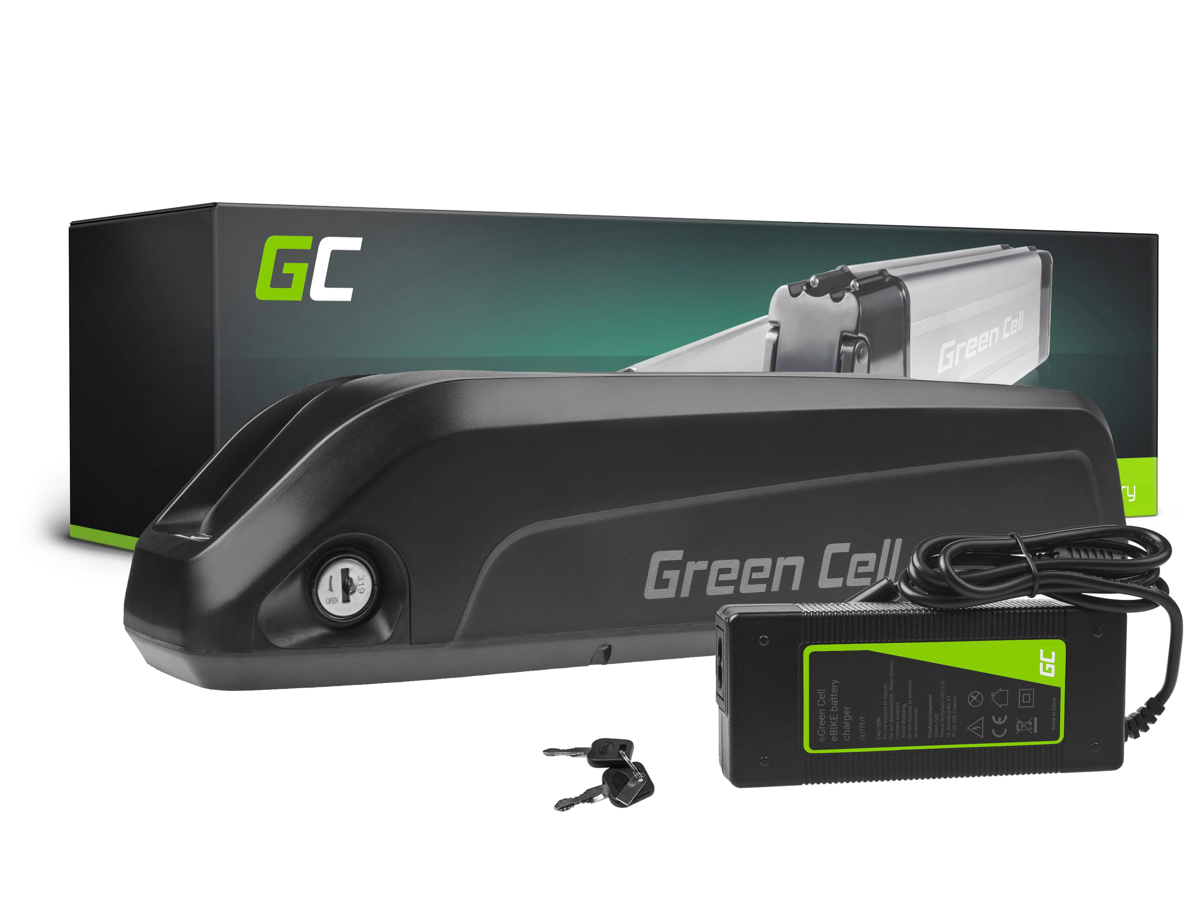 Green Cell E-Bike Baterie 36V 10.4Ah Li-Ion Down Tube with Nabíječka