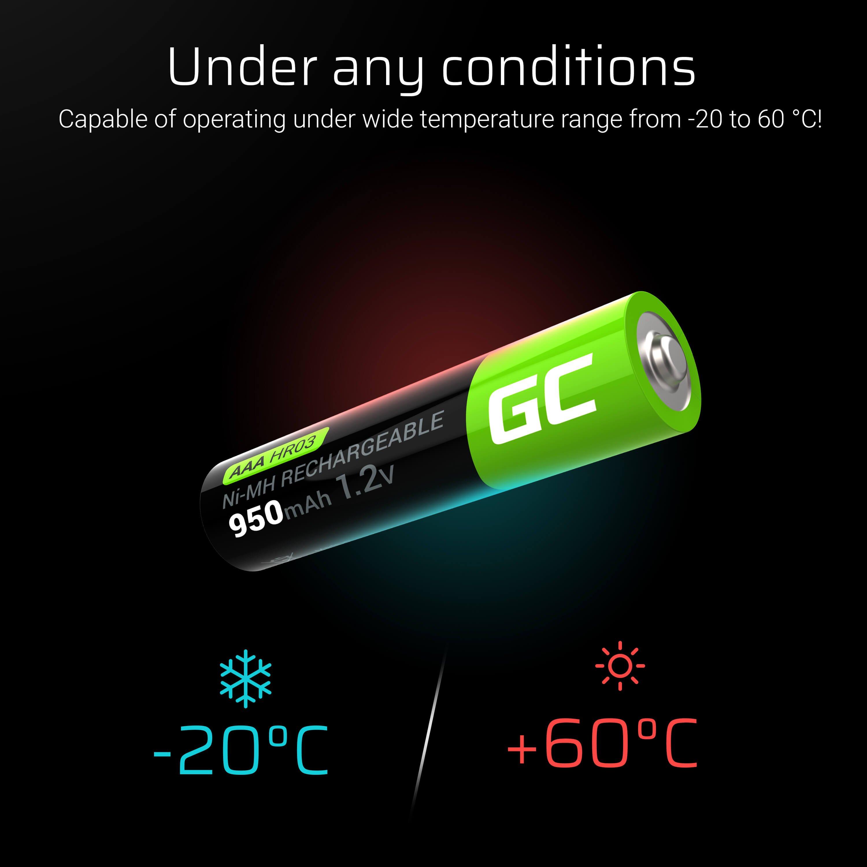 Green Cell Dobíjecí baterie Ni-MH 4x AAA HR03 950 mAh