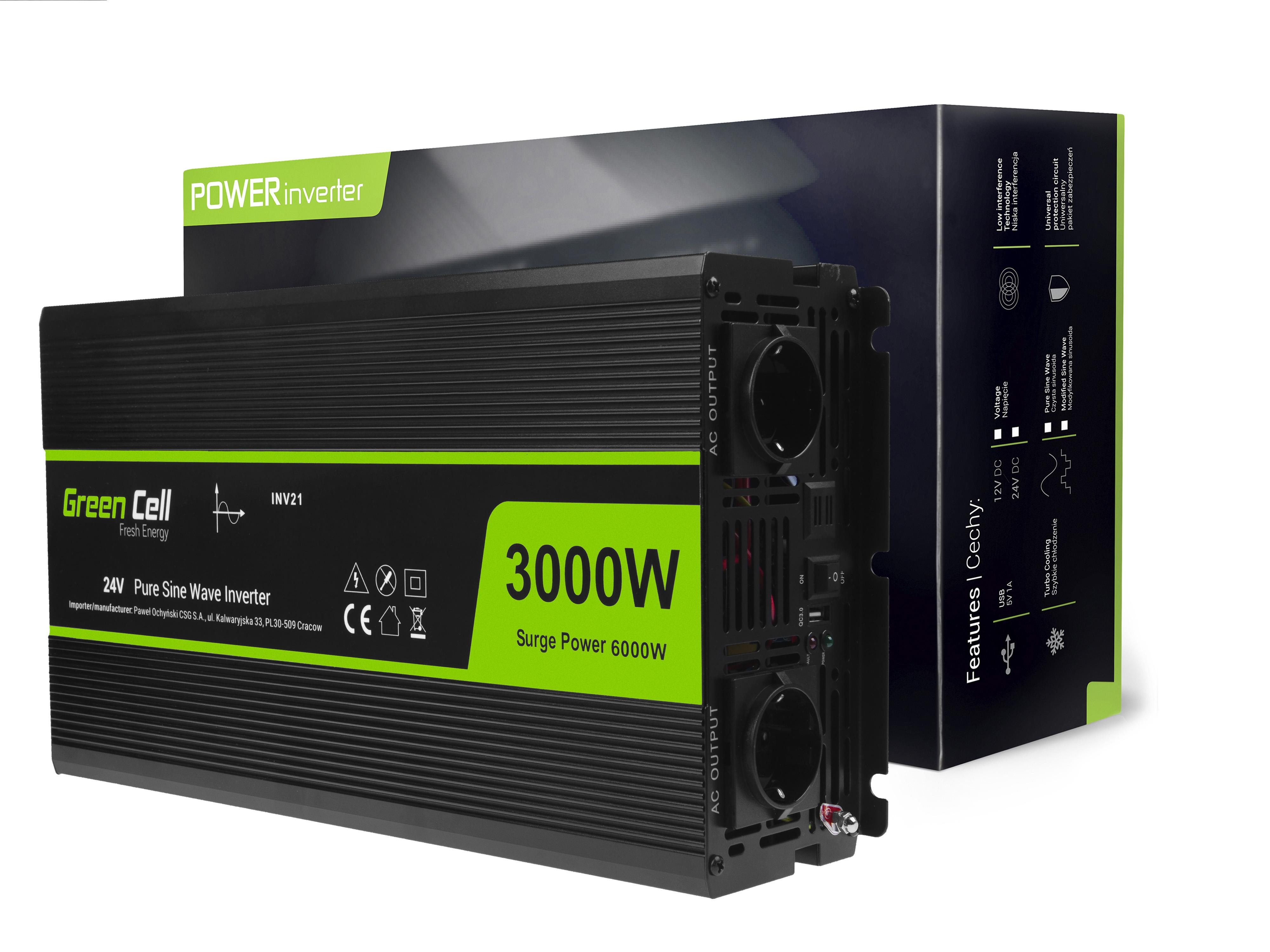Inverter Green Cell® 24V to 230V Pure sine 3000W