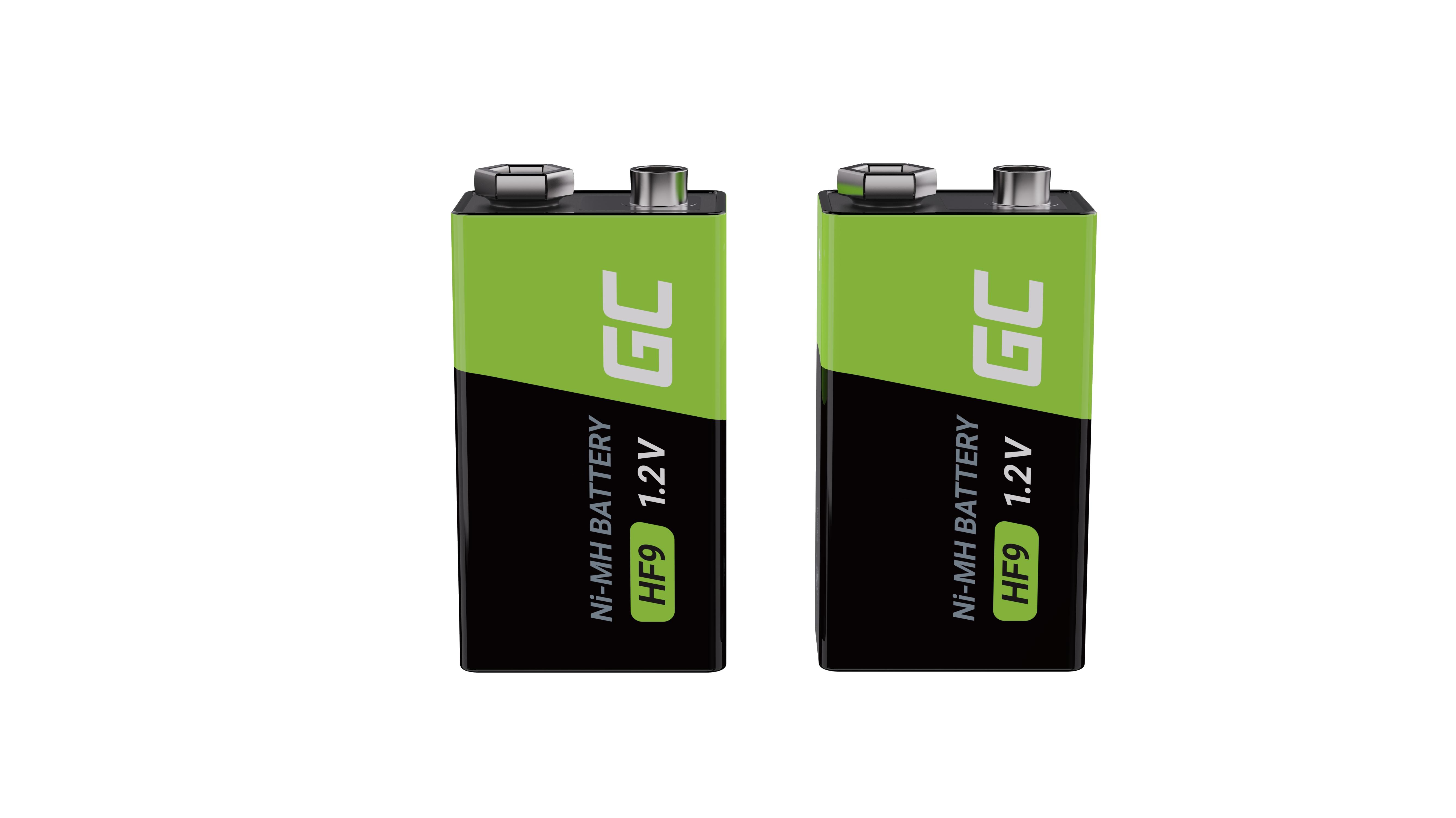 Green Cell Dobíjecí baterie 2x 9V HF9 Ni-MH 250mAh