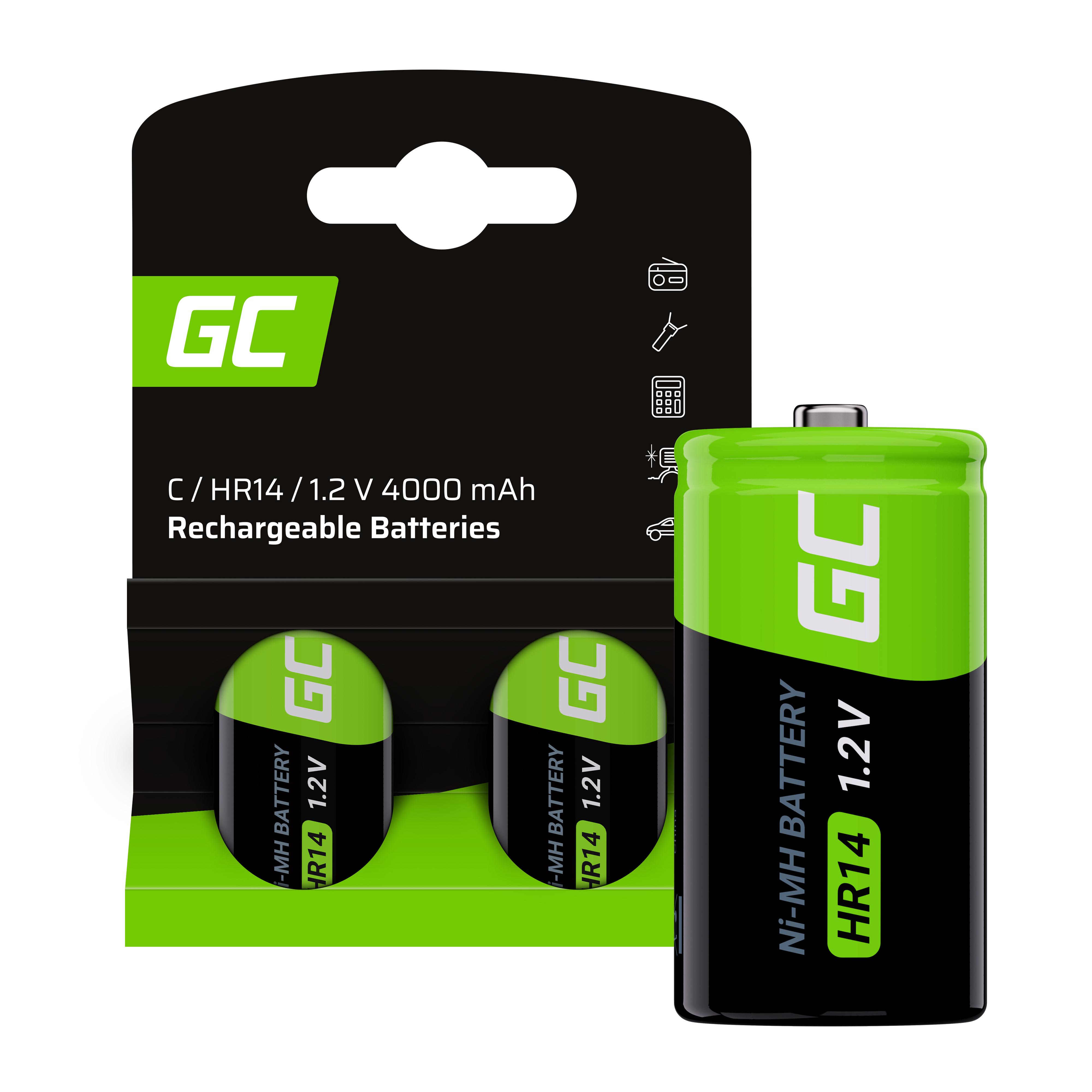 Green Cell Dobíjecí baterie 2x C R14 HR14 Ni-MH 1.2V 4000mAh