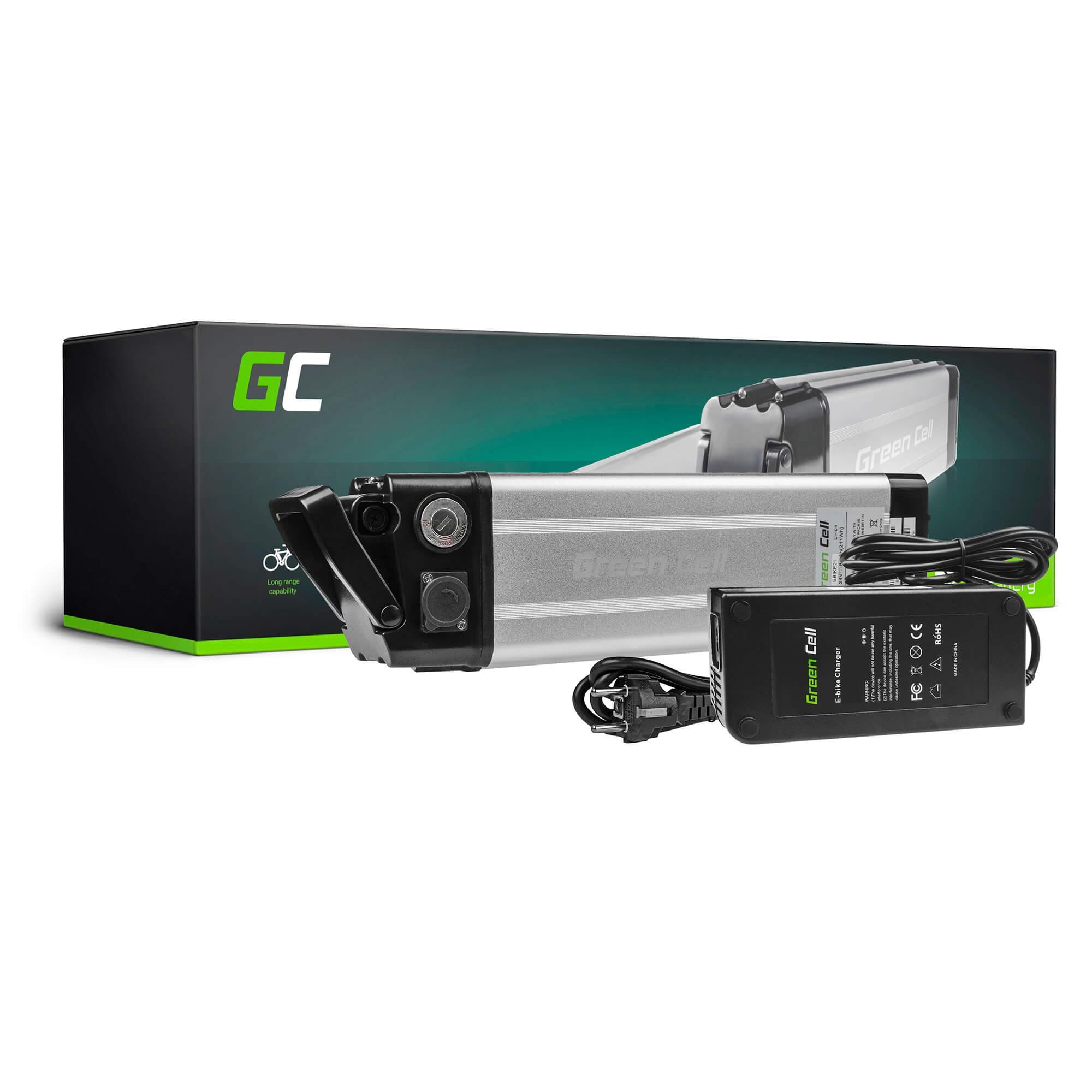 Green Cell E-BIKE Baterie 24V 8.8Ah Li-Ion Silverfish with NabíječkaElectric Bicycle