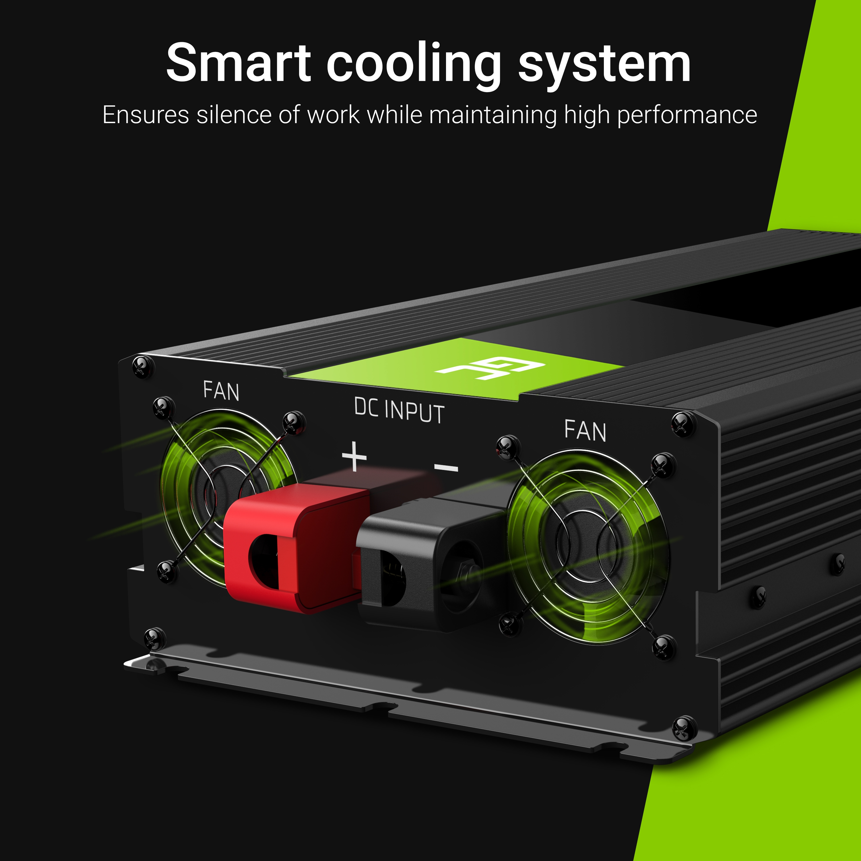 Green Cell Usměrňovač energie 12V na 230V, 3000W | 6000W - čistá sinusovka