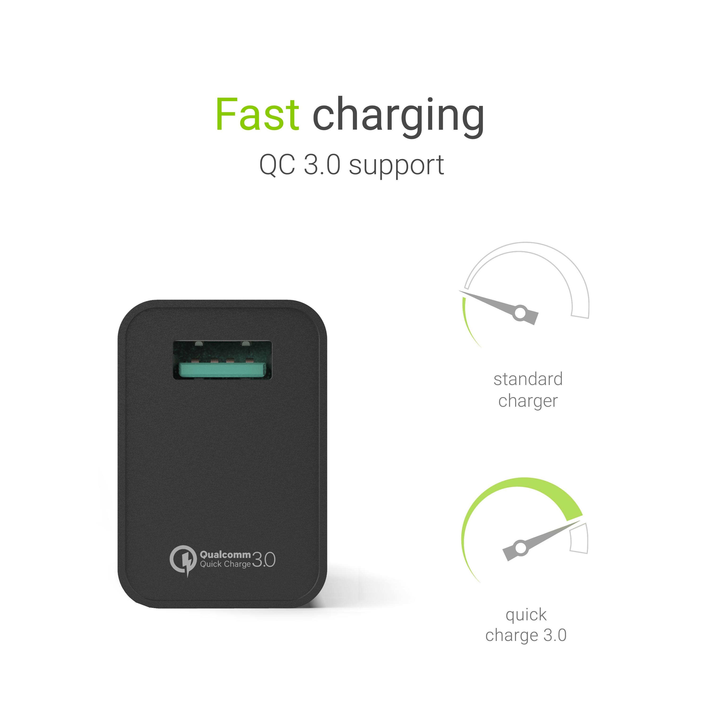 Green Cell Nabíječka USB 18W s rychlým nabíjením Quick Charge 3.0