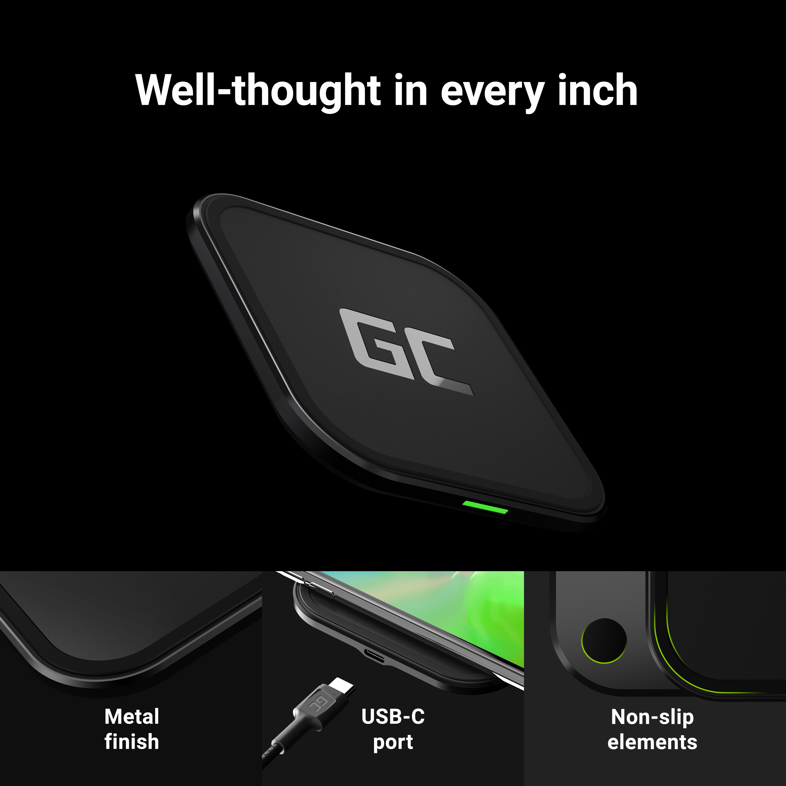QI wireless charger GC AirJuice 15W with fast charging