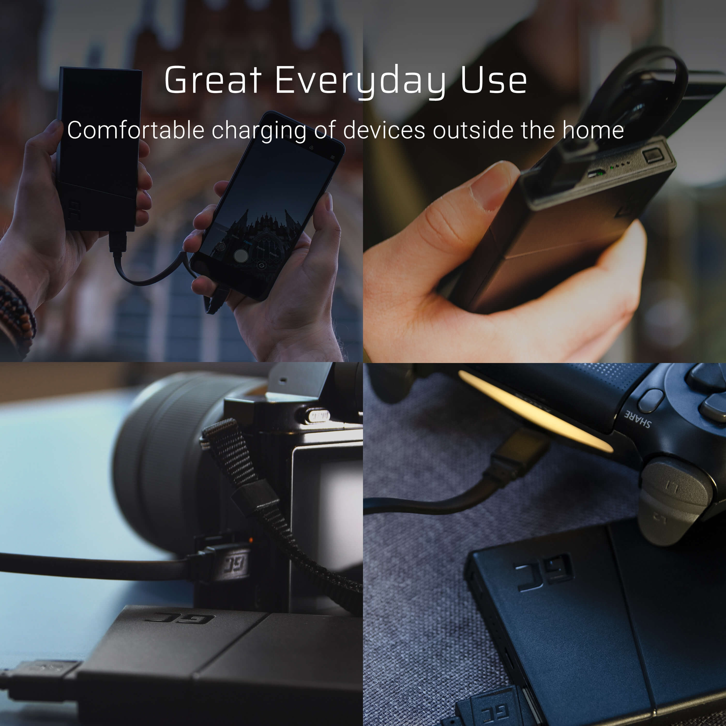GCmatte Micro USB Cable Flat 25 cm with quick charging support
