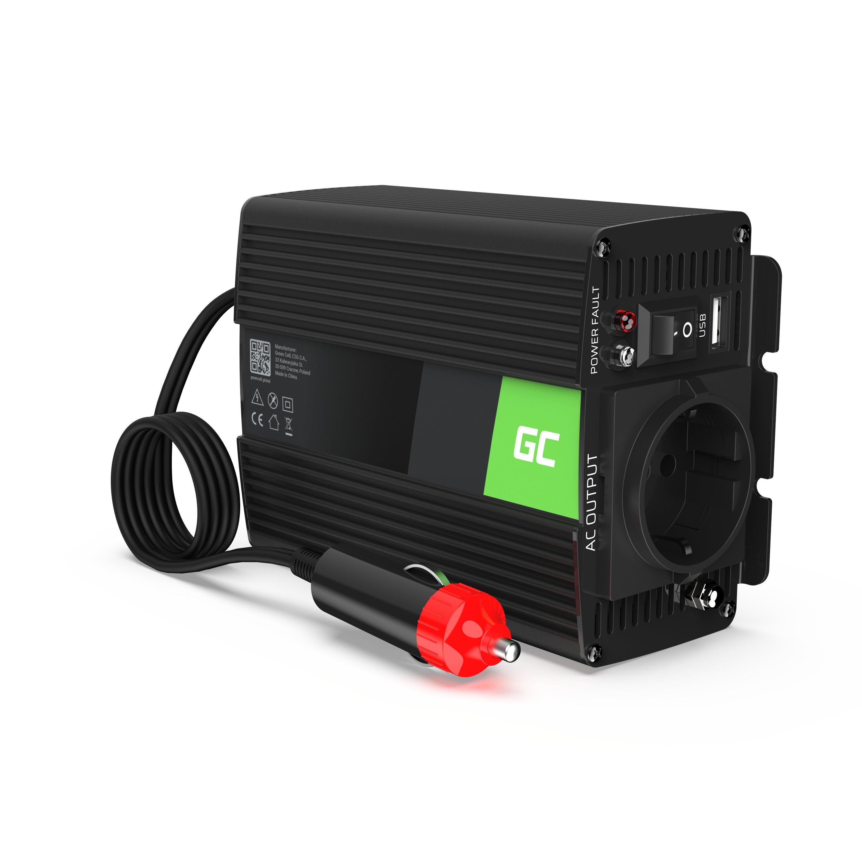 Green Cell ® Voltage Car Inverter 12V to 230V, 300W/600W Pure sine wave