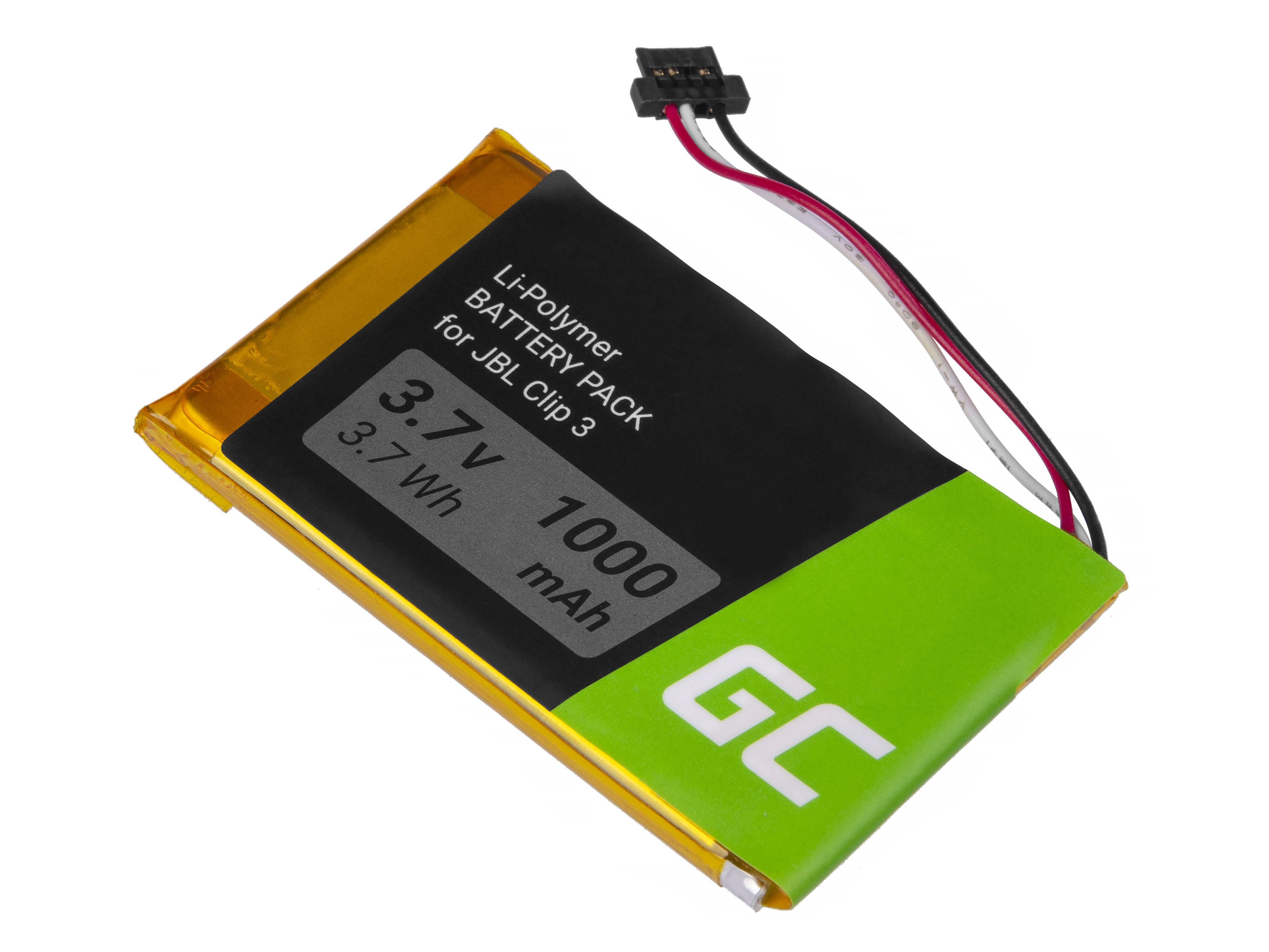 Baterie Green Cell JBL L0721-LF Bluetooth JBL Clip 3 Clip 3AN Clip 3SAND, 1000mAh 3.7V Li-Pol