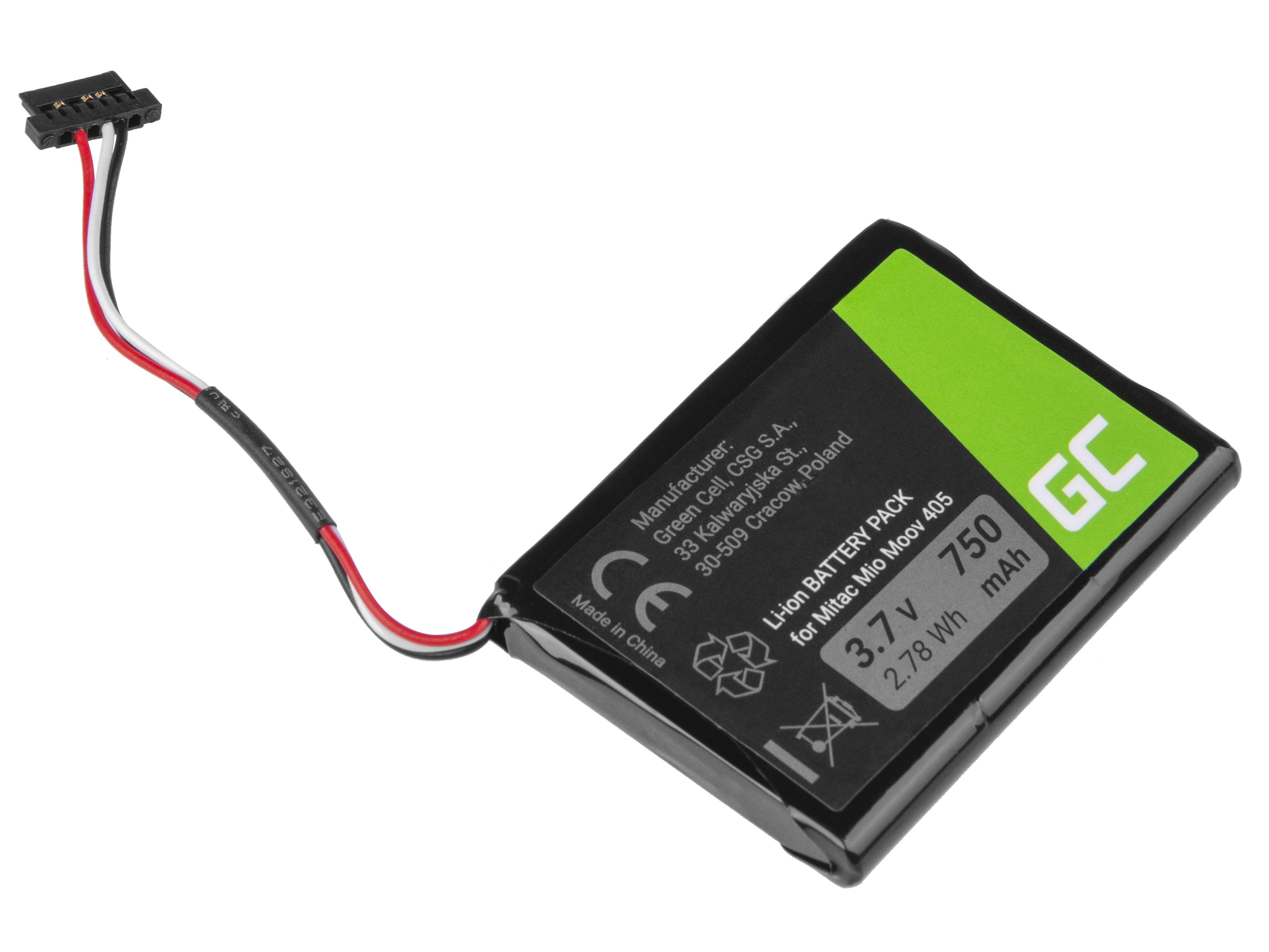 Green Cell Baterie GPS Moov CS-MIV400SL T300-3, GPS Moov 500 510 560 580 N210 750mAh Li-Ion – neoriginální