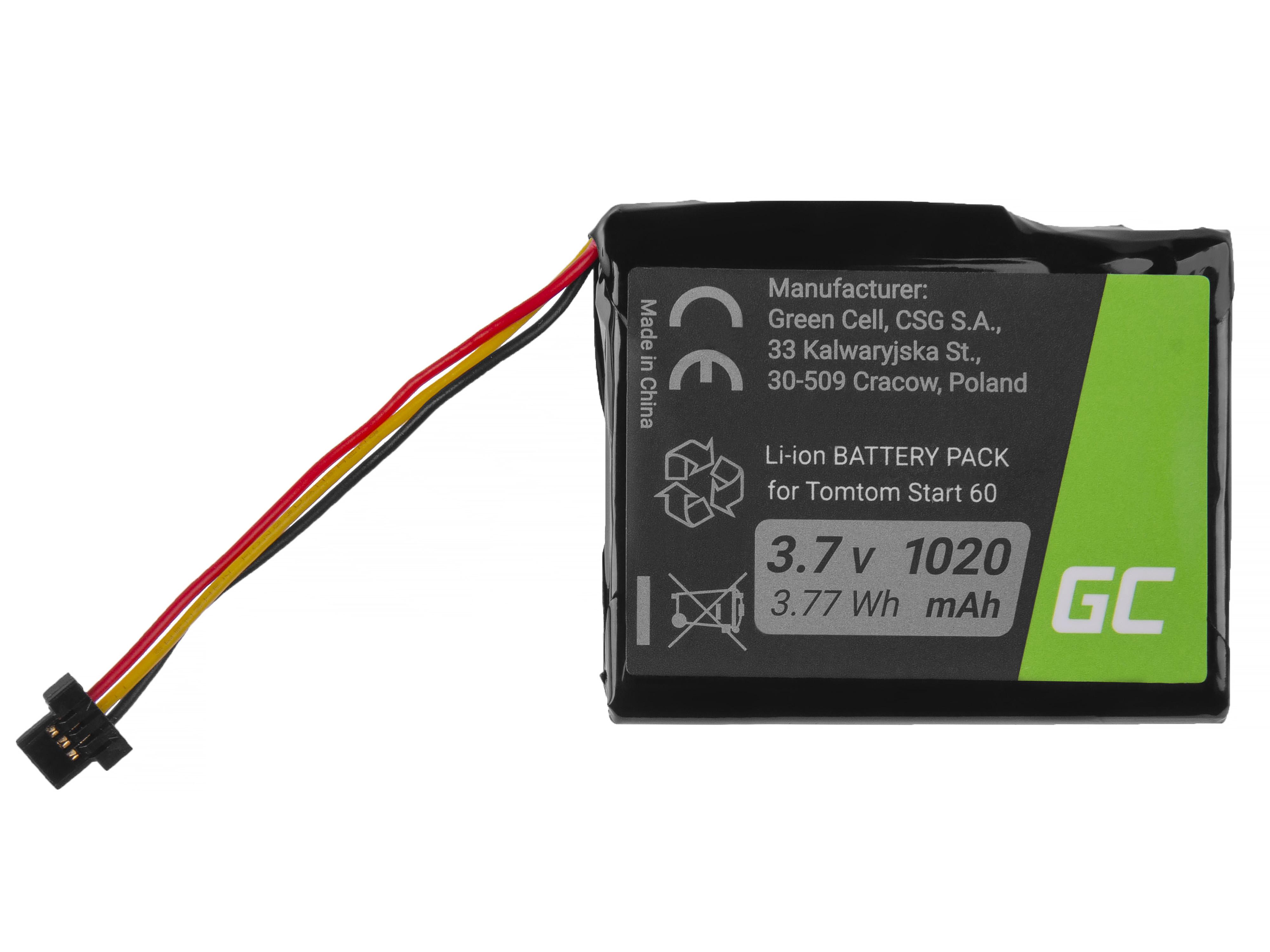 Green Cell Baterie GPS TomTom AHA11111003 CS-TMS60SL pro GPS TomTom Start 60, Via 1605, TomTom 4EN62 1200mAh Li-Ion – neoriginální