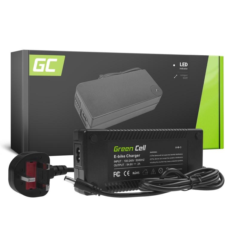 Green Cell® 54.6V 2A Ebike Charger for 48V Li-Ion Battery 5.5*2.1mm Plug UK