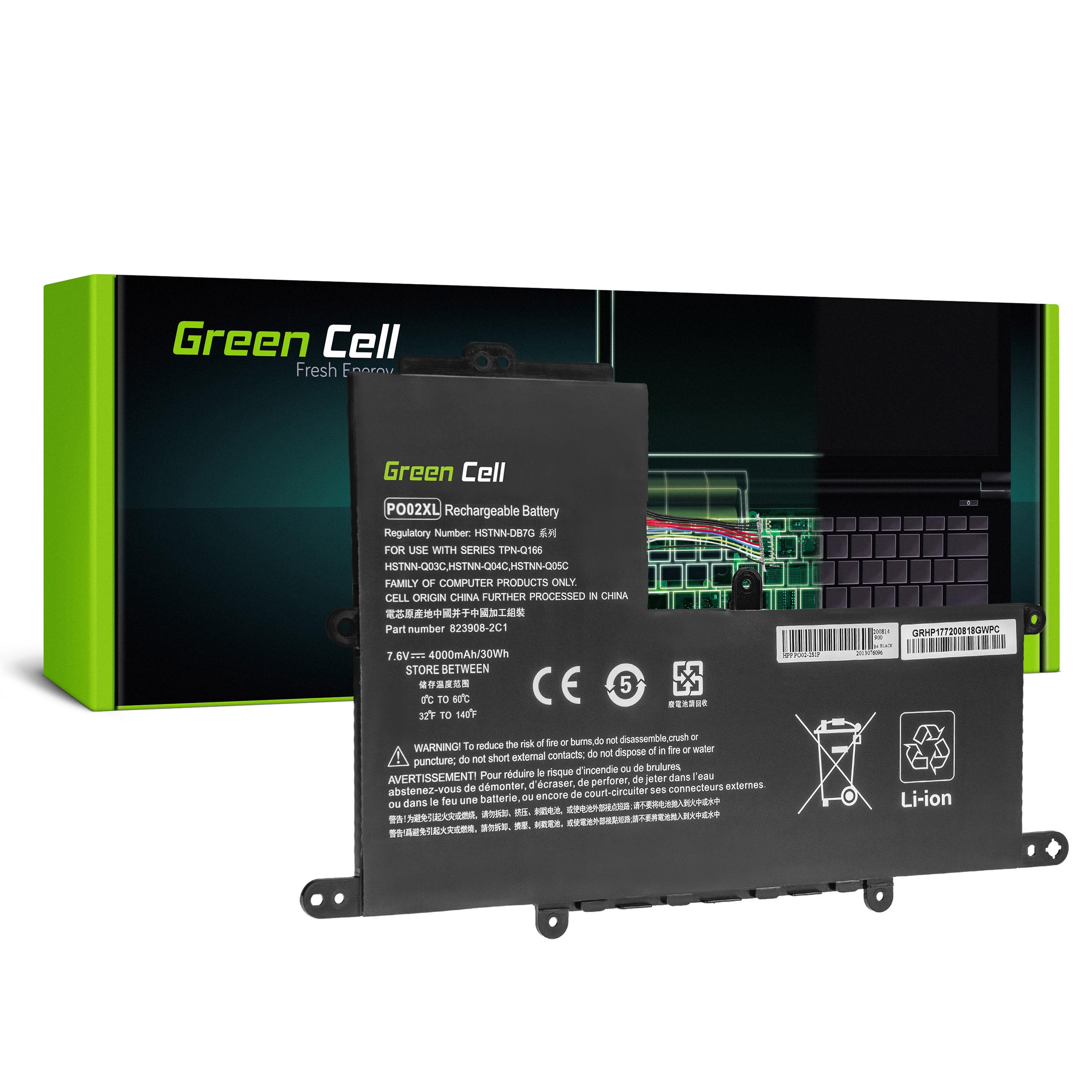 Green Cell HP177 Baterie HP PO02XL HP Stream 11 Pro G2 G3 G4 G5, HP Stream 11-R020NW 11-R021NW 11-Y000NW 11-Y002NW 4000mAh Li-Pol - neoriginální