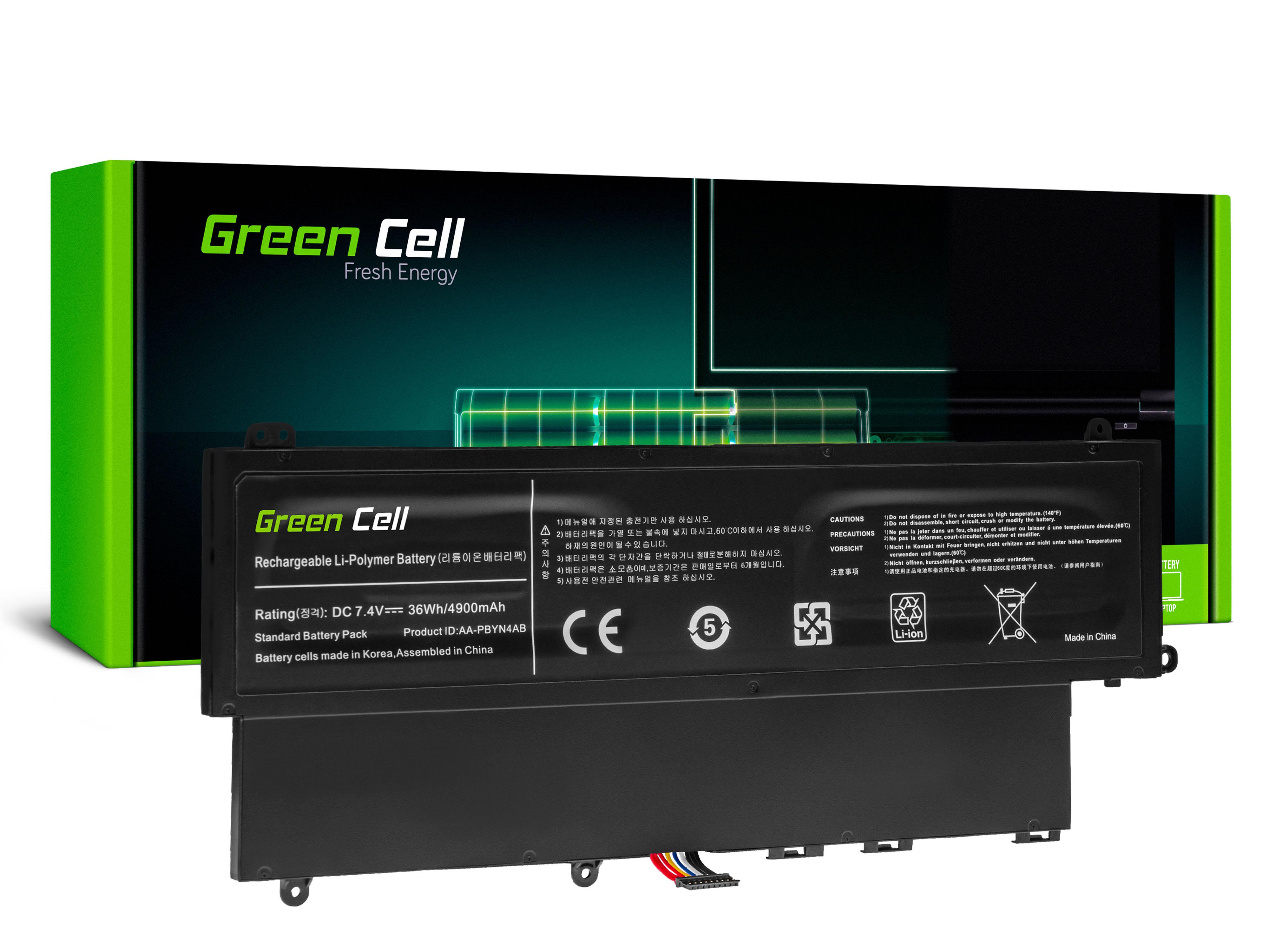 Green Cell SA15V2 Baterie Samsung AA-PBYN4AB, Samsung 530U 535U 540U NP530U3B NP530U3C NP535U3C NP540U3C 4900mAh Li-Pol- neoriginální