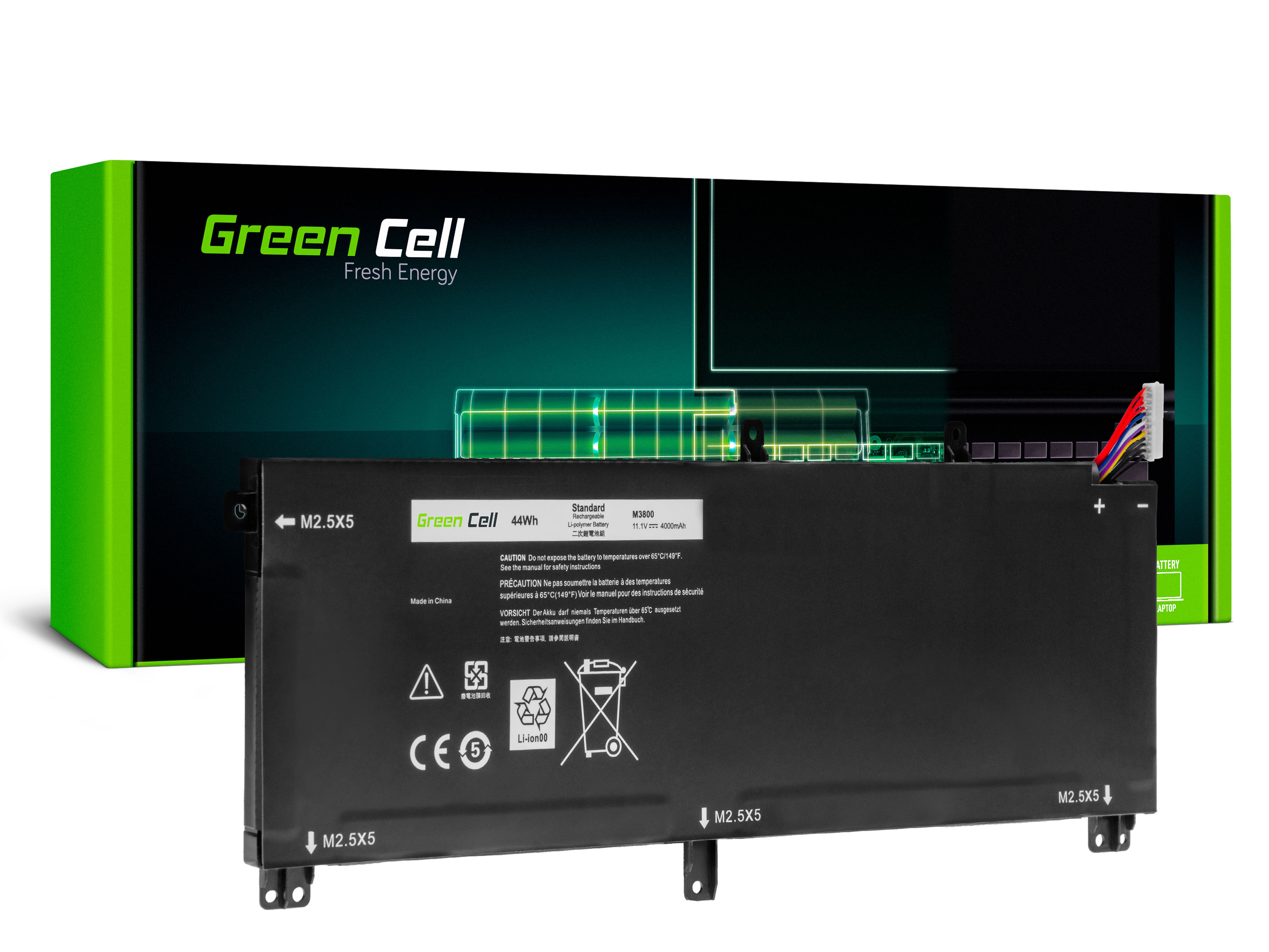 Green Cell DE99 Baterie Dell 245RR T0TRM TOTRM, Dell XPS 15 9530, Dell Precision M3800 4000mAh Li-Pol - neoriginální