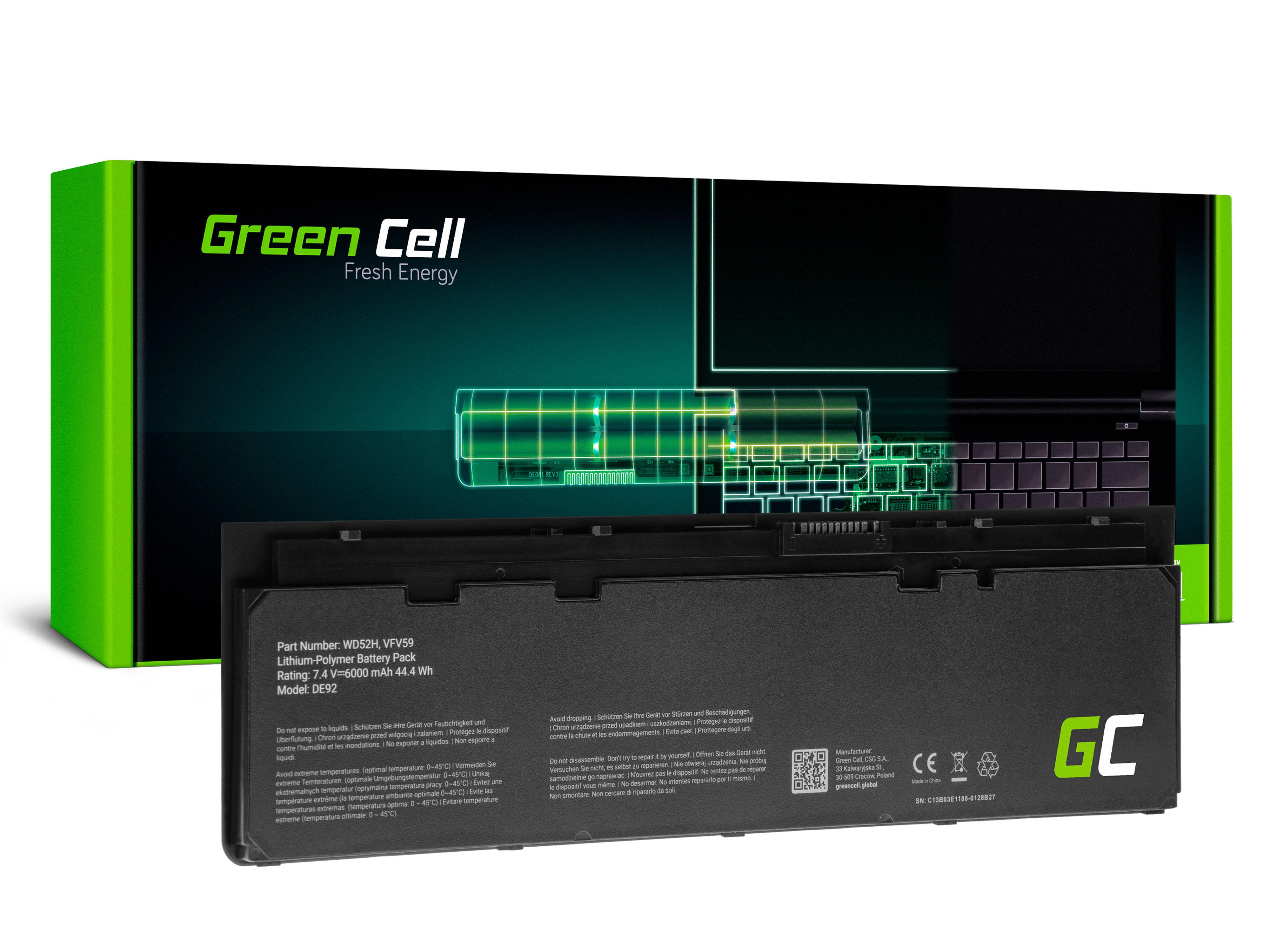 Green Cell DE154 Baterie Dell WD52H GVD76, Dell Latitude E7240 E7250 6800mAh Li-Pol - neoriginální