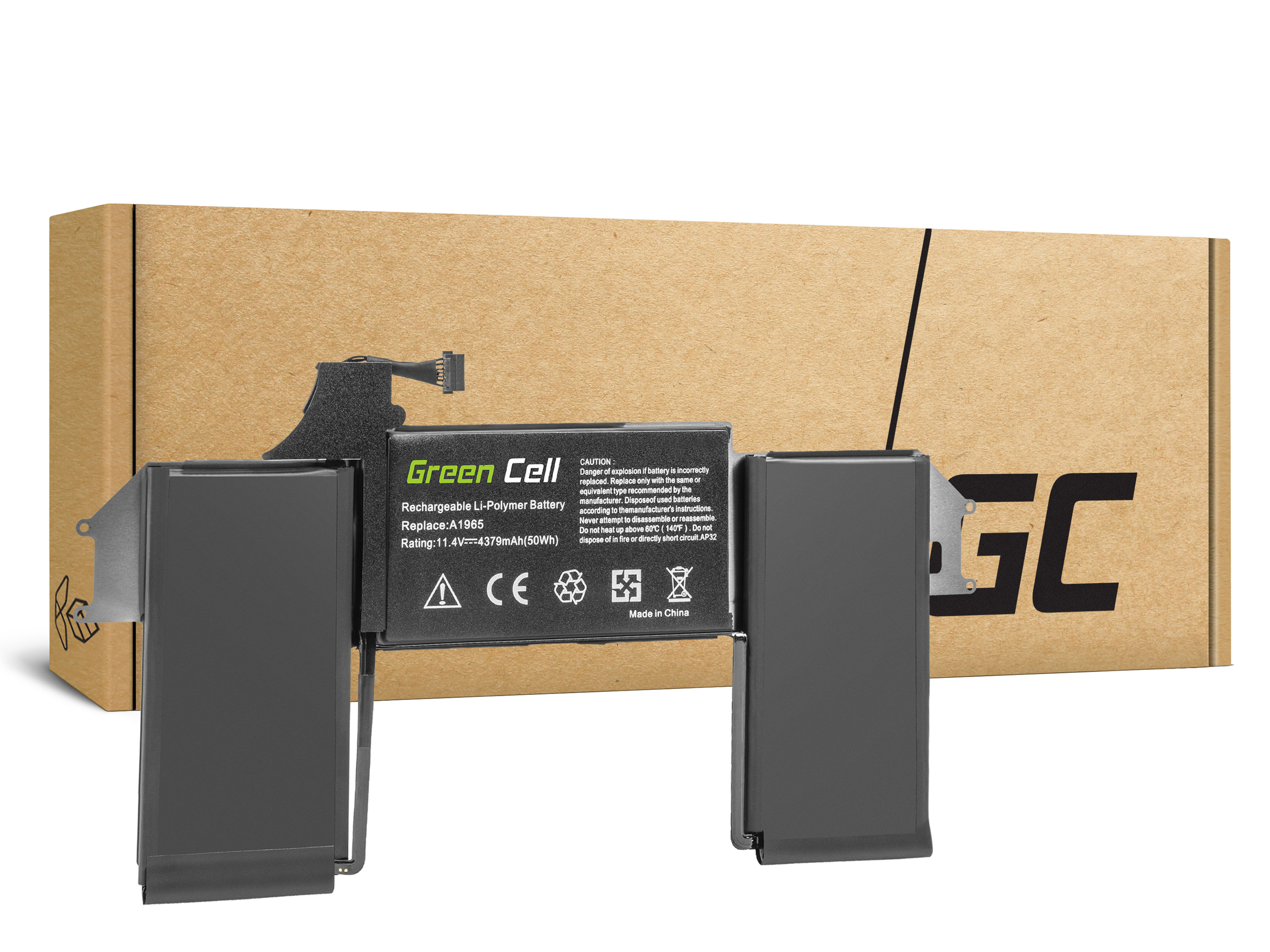 Green Cell AP32 Baterie Apple A1965, Apple MacBook Air 13 A1932 A2179 (2018, 2019, 2020) 49Wh Li-Pol - neoriginální