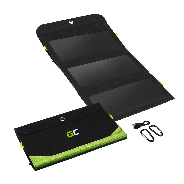 Green Cell Solární Panel 21W nabíječka s funkcí powerbanky 10 000mAh USB-C 18 W PD USB-A QC