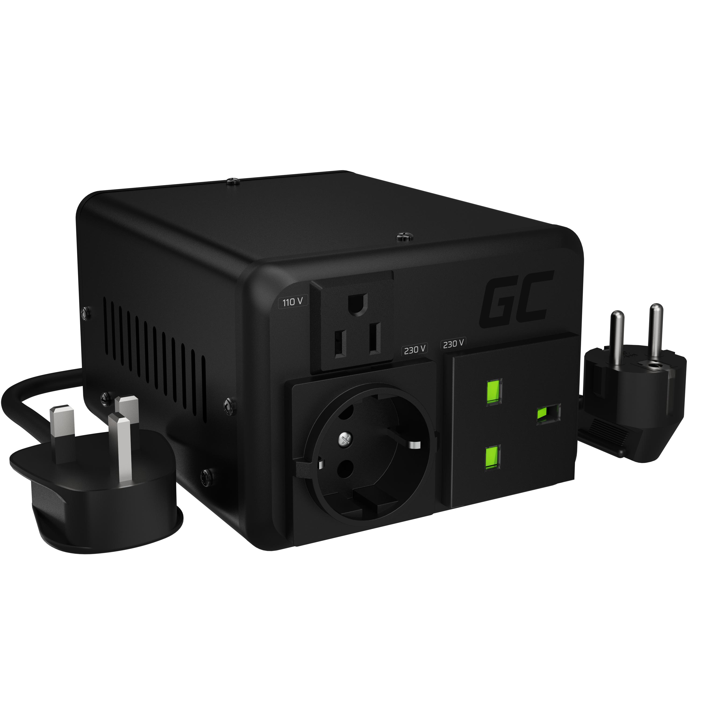 Green Cell měnič napětí 110V/230V 400W/500W EU UK USA