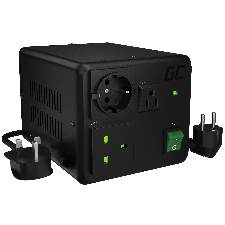 Green Cell měnič napětí 110V/230V 800W/1000W EU UK USA