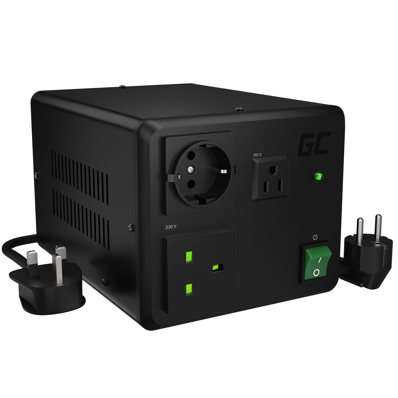 Green Cell měnič napětí 110V/230V 1600W/2000W EU UK USA