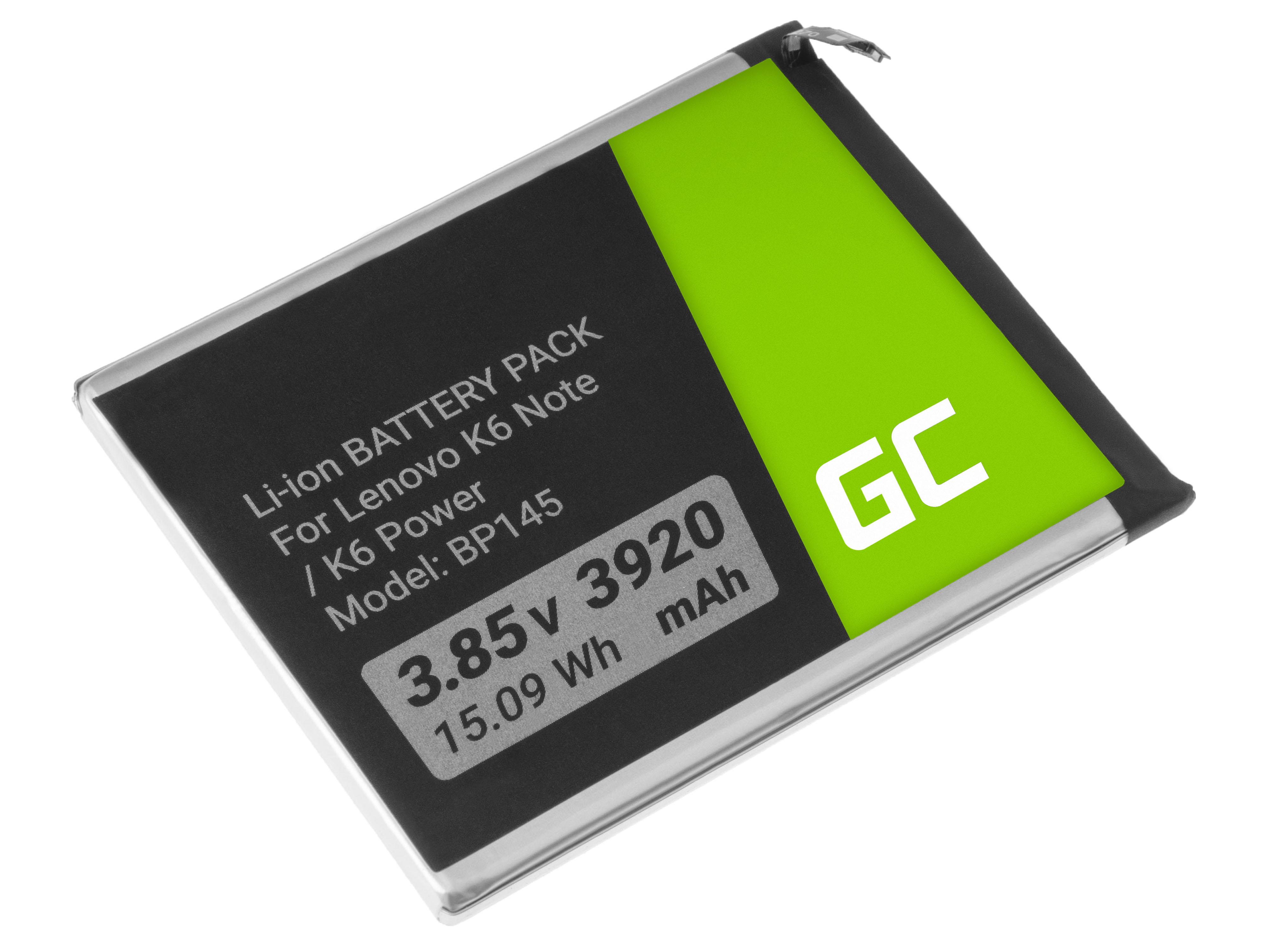 Green Cell BP145 Baterie Lenovo BL270 pro Lenovo K6 Note / K6 Power 3920mAh Li-Ion - neoriginální